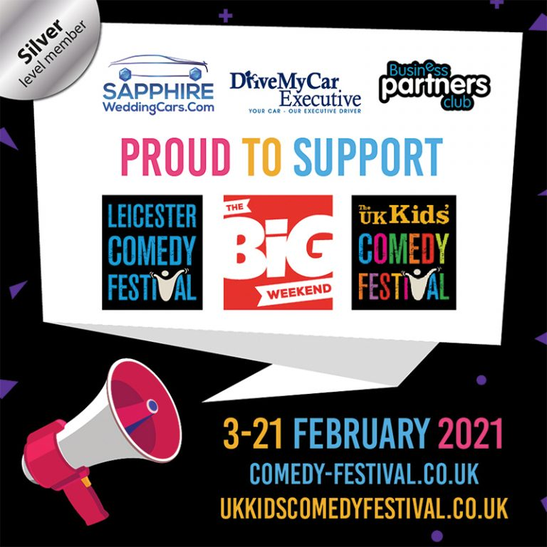 Sapphire Wedding Cars Proudly Supports the Leicester Comedy Festival